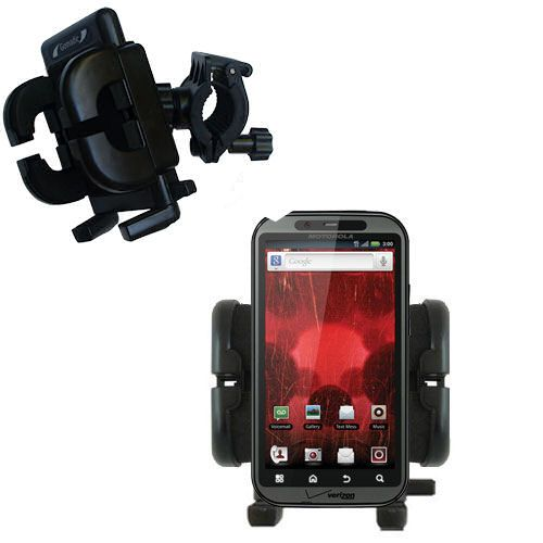 Navigation on a bicycle - easy with this celphone holder