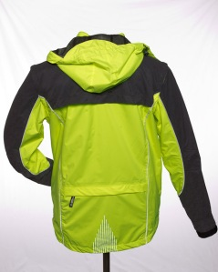 high visibility cycling jacket with reflectives