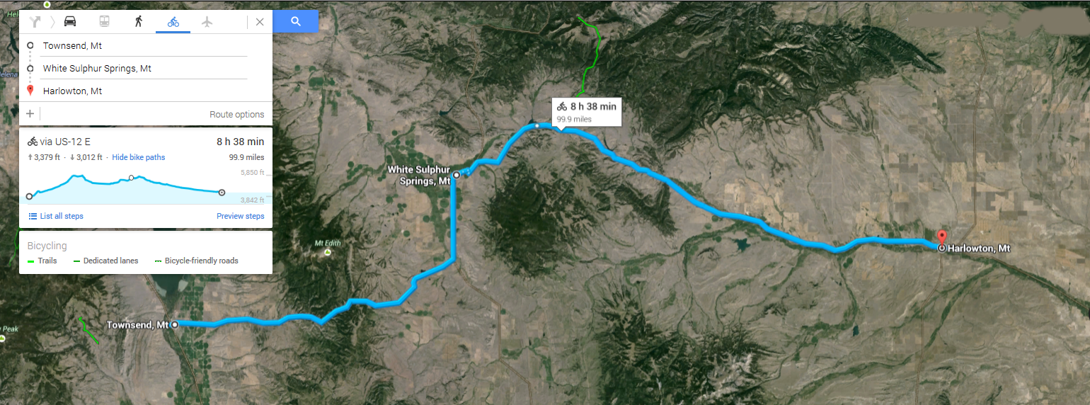Day 12 Townsend to Harlowton 99.4 miles - Through the heart of Montana