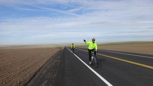 Cycling near Odessa WA