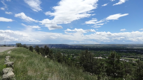 Looking down into Billings as we head to Montana State for a rest day on Day 14.