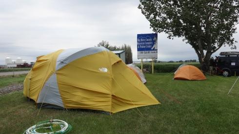 wind on tent