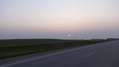 sunrise in De Smet