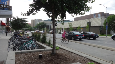 Madison is a bicycle friendly town.