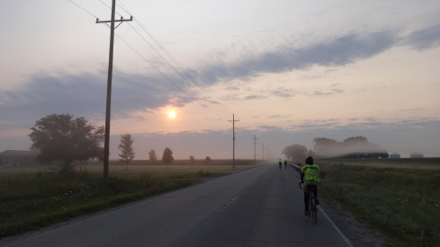 Sunrise cycling to beat the heat.