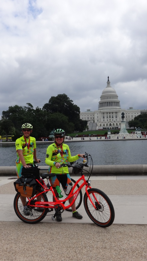 Arrived in Washington DC - 3387 miles by bike